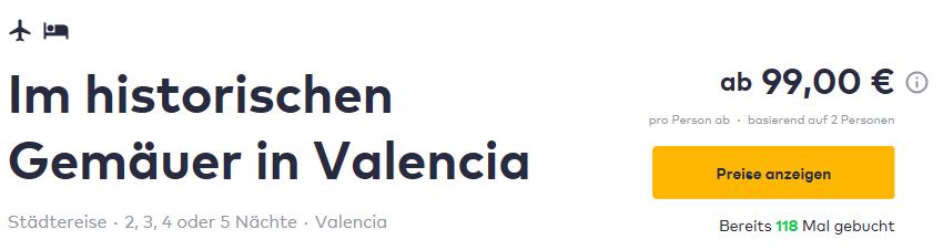 Valencia Angebot